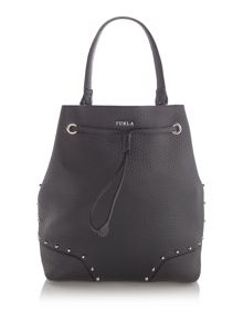 Furla Black stud bucket bag