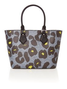Vivienne Westwood Leopardmania grey medium tote bag