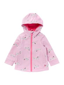 Joules Girls Dalmatian Print Rubber Coat