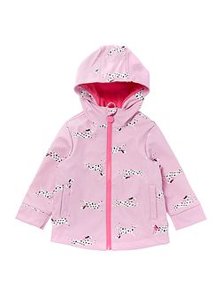 Girls Dalmatian Print Rubber Coat