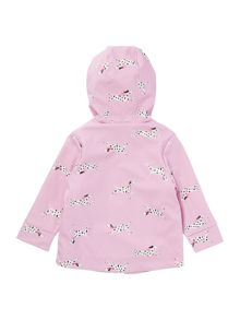 Joules Girls Dalmation Print Rubber Coat