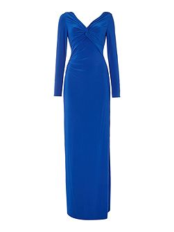V Neck Long Sleeve Gown