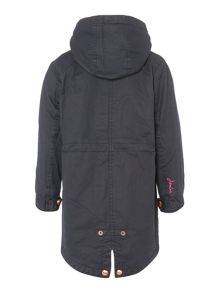 Joules Girls Faux Wax Parka