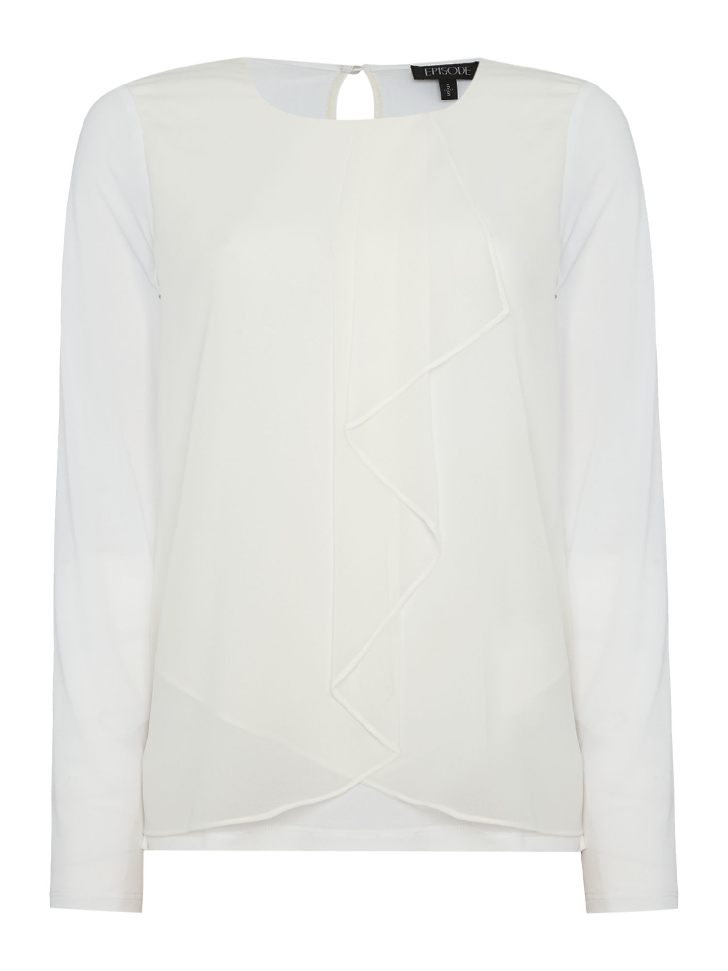 Episode Episode Long sleeve ruffle blouse, White