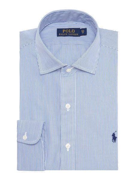 Polo Ralph Lauren Estate Collar Poplin Bengal Stripe Shirt