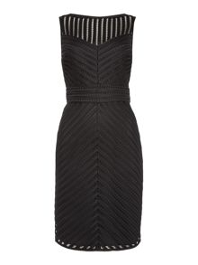 Lauren Ralph Lauren Adonica Sleeveless Bonded Stripe Dress