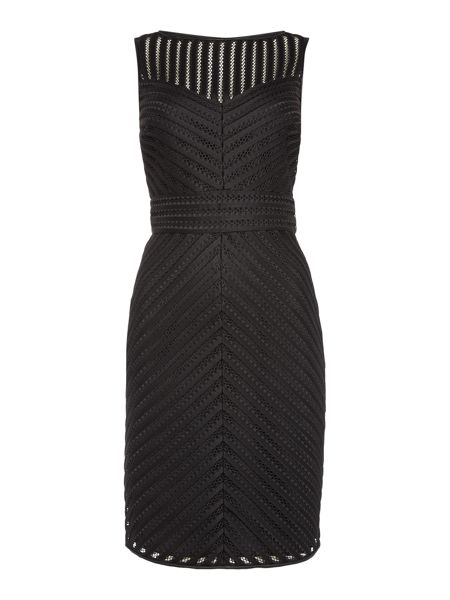 Lauren Ralph Lauren Sleeveless bonded stripe dress