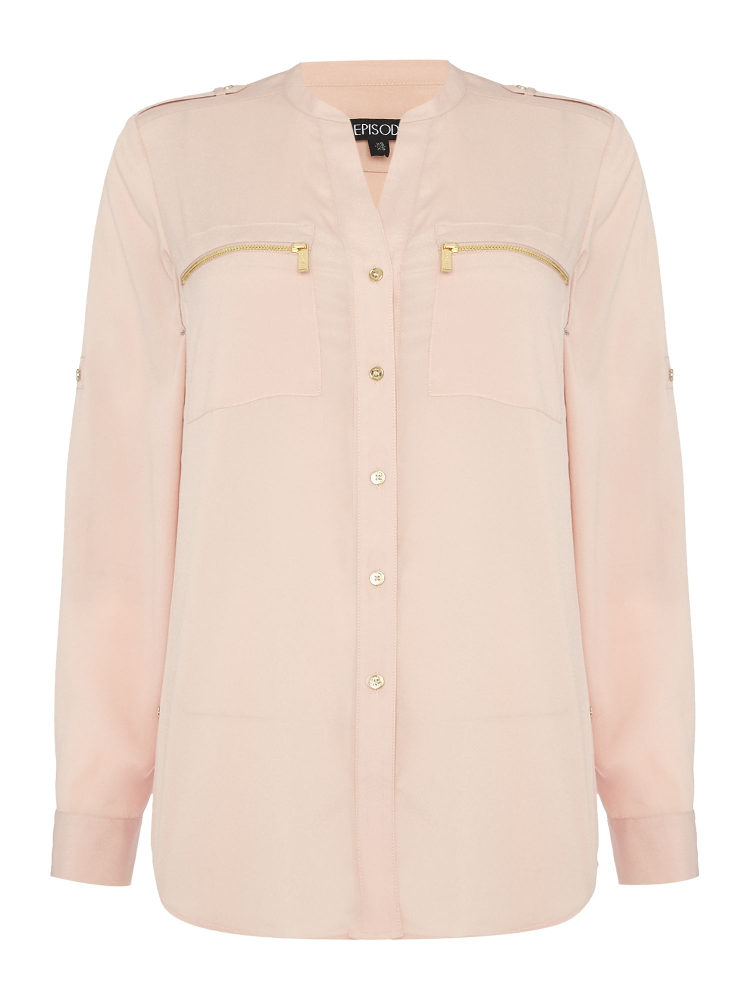 Episode Episode Zip Pocket Shirt, Blush
