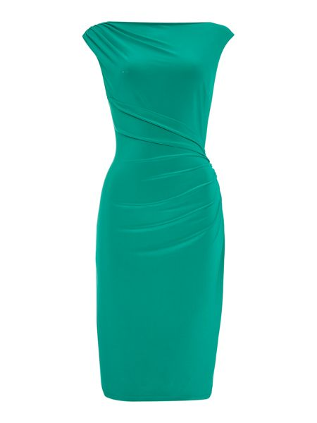 Lauren Ralph Lauren Vannalynn Ruched Cap Sleeve Dress