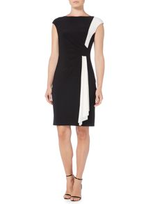 Lauren Ralph Lauren Contrast panel ruched dress