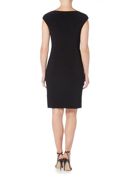 Lauren Ralph Lauren Sheila Two Tone Cap Sleeve Dress