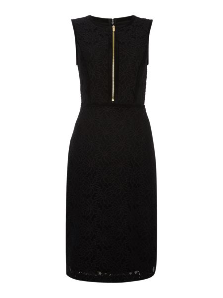Episode Suede and lace bodycon dress