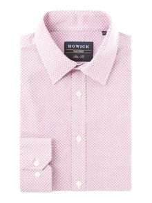 Howick Tailored Ridge Geo Print Slim Fit Shirt