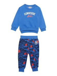 Converse Babys Converse Logo Top and Print Joggers