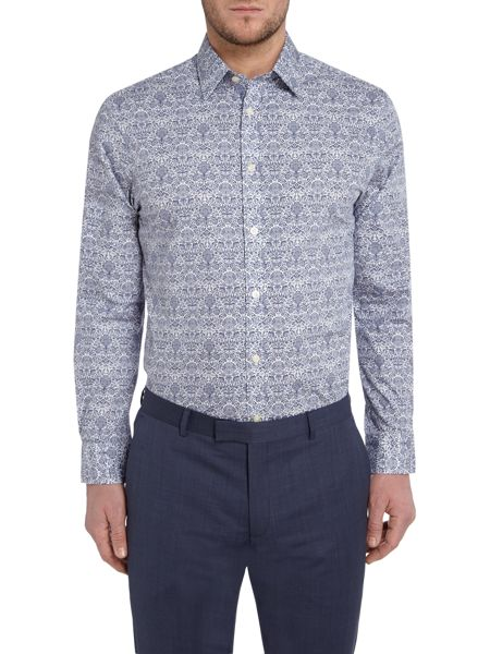 Howick Tailored Daniels Floral Print Shirt