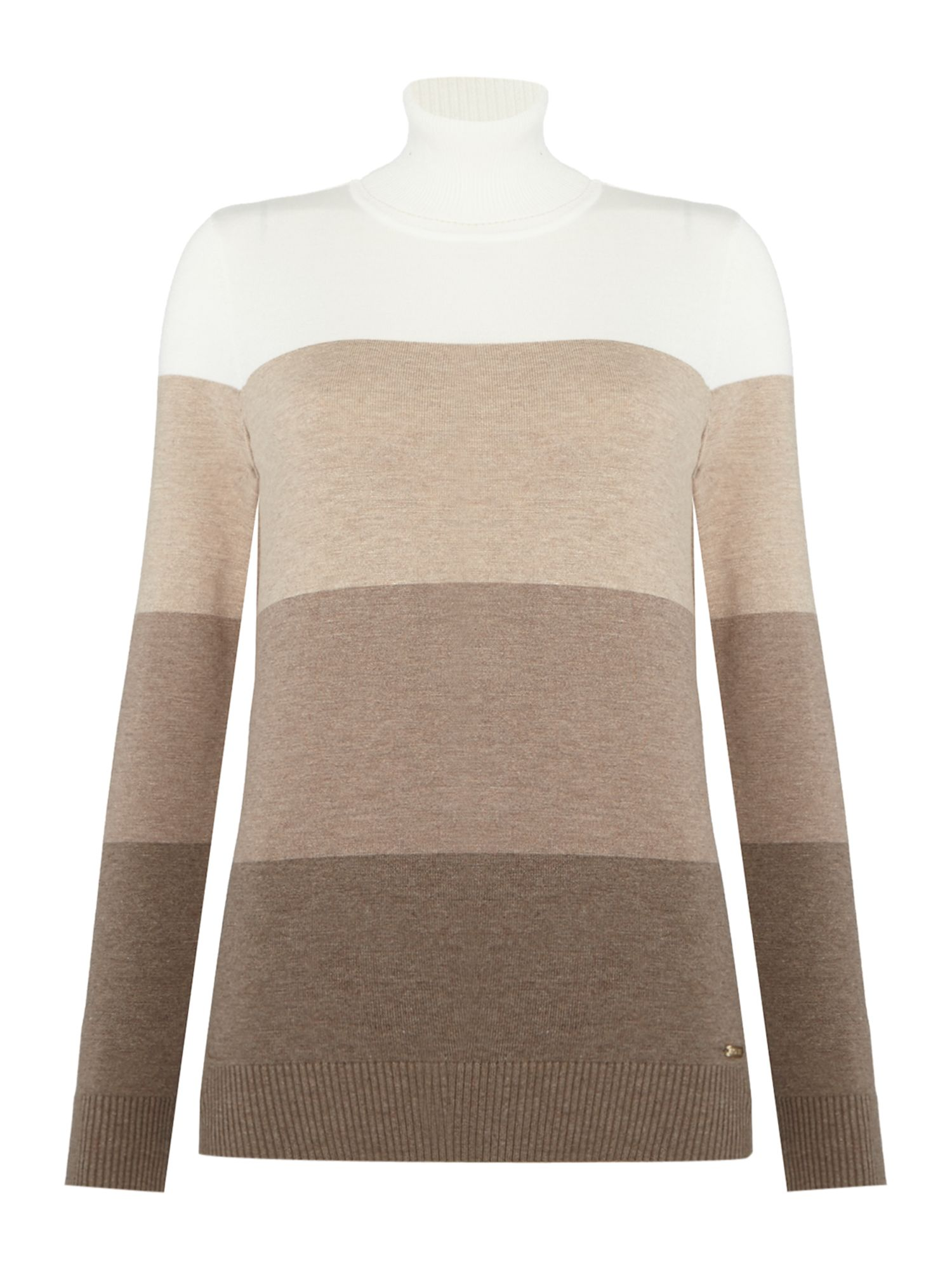 Episode Episode Wool Mix Knit Turtleneck Jumper, Multi-Coloured