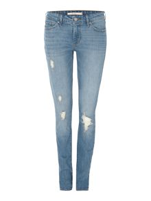 Levi's 711 skinny jean in goodbye heart