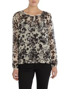 Part Two Feminine floral print blouse