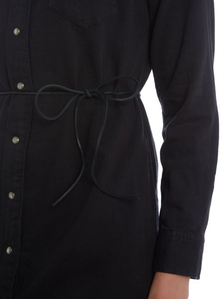 Levi's Iconic western dress in black ink