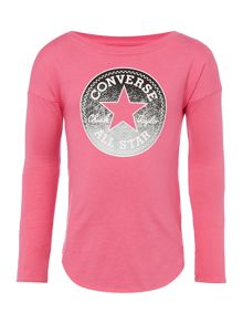 Converse Girls Longsleeve Ombre Sparkle Tee