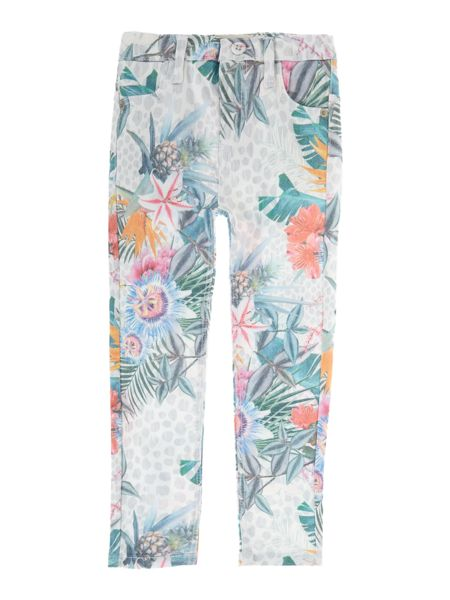 Angel & Rocket Girls Tropical Print Skinny Jeans