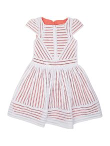 Angel & Rocket Girls Contrast Stripe Dress
