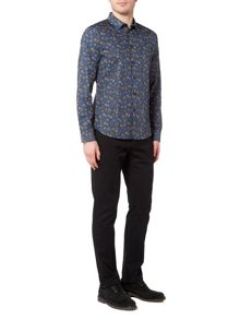 Linea Lons Autumn Leaf Print Shirt