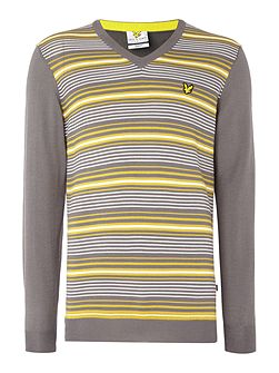 Golf Stripe V-Neck Pullover