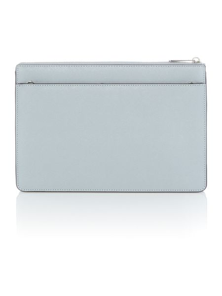 Michael Kors Ava blue stud clutch bag