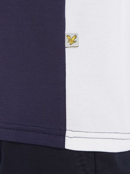 Lyle and Scott Golf Short Sleeve Panel Polo Shirt