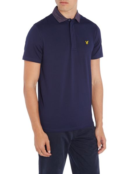 Lyle and Scott Golf Short Sleeve Check Collar Polo Shirt