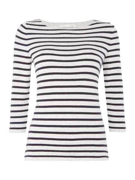 Oui Stripe knitted sweater