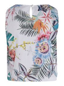 Angel & Rocket Girls Floral Print Frill Detail Top