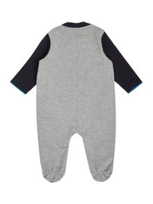 Armani Junior Babys All in One Striped With Feet