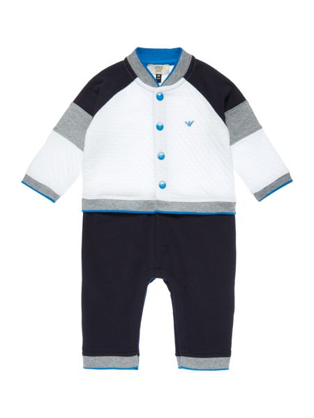 Armani Junior Babys All-in-One Mock Tracksuit