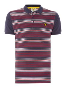 Lyle and Scott Golf Short Sleeve Stripe Polo Shirt