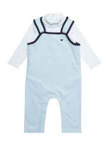Armani Junior Babys Logo Body Print All-in-One