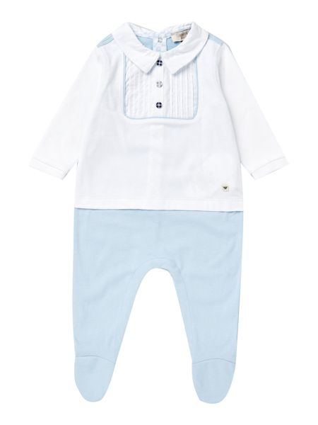 Armani Junior Babys Smart Jersey Shirt All-in-One