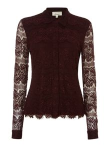 Linea Lace detail jersey shirt
