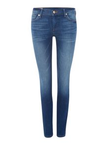 True Religion Casey low rise skinny jean in crystal springs