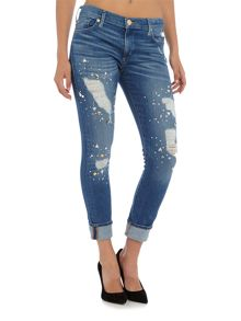 True Religion Liv low rise slim biyfriend jean