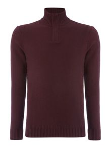Linea Augusta Salt & Pepper Half Zip Jumper