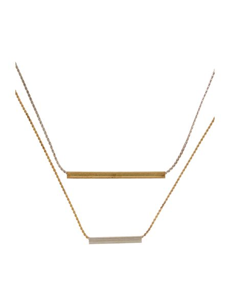 Gray & Willow Double bar necklace