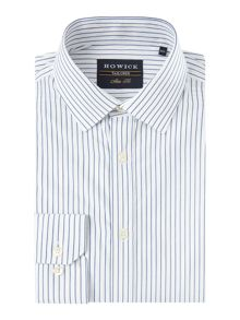 Howick Tailored Ruxton Dobby Stripe Shirt