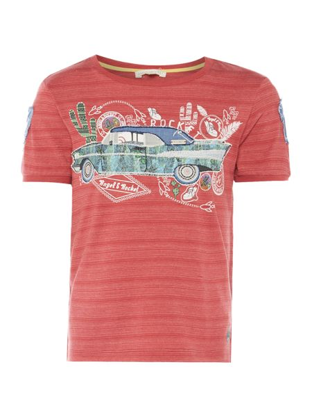 Angel & Rocket Boys Car Applique T-shirt