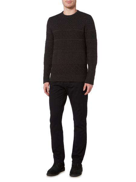 Linea Avignon Raised Stripe Cable Knit Jumper