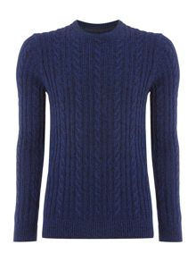 Linea Antoine Cable Knit Crew Neck Jumper