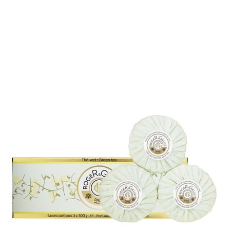 Roger & Gallet Green Tea Perfumed Soaps 3 x 100g