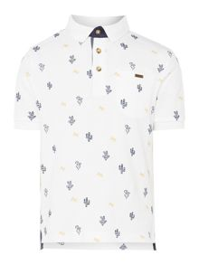Angel & Rocket Boys Cactus Print Polo Shirt