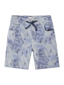 Angel & Rocket Boys Leaf Print Short